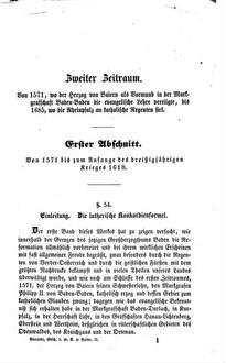 Geschichte der evangelischen Kirche in dem Großherzogthum Baden : Nach großentheils handschriftl. Quellen bearbeitet. 2, Vom Jahr 1571 bis zu der jetzigen Zeit
