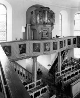 Schlosskirche, Orgelempore