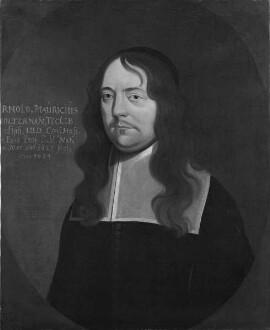 Bildnis des Arnold Moritz Holtermann, 1661-1681 Professor der Geschichte und der Rechte in Marburg (1627-1681)