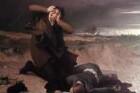 Szenen aus dem Leben Martin Luthers — Luthers Freund stirbt durch Blitzschlag