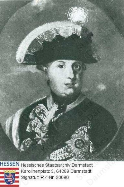 Wilhelm IX. Landgraf v. Hessen-Kassel, 1803 Kurfürst Wilhelm I. (1743-1821) / Porträt in Medaillon, Brustbild