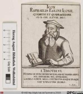 Bildnis Raphael Egli (lat. Iconius)