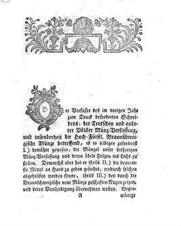 Gründliche Prüfung des Schreibens, die Teutsche und anderer Völcker Münz-Verfassung, insonderheit die Hochfürstl. Braunschweigische Münze betreffend