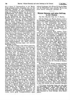 Werner Siemens und seine Stellung in der Chemie