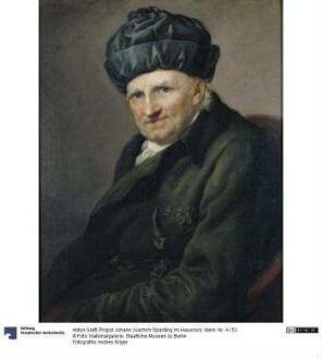 Propst Johann Joachim Spalding im Hausrock