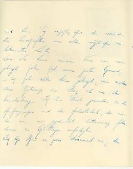 2. Seite des Briefes von Börris Freiherr von Münchhausen