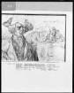 Die niederländische Reise (Das Skizzenbuch mit Silberstiftzeichnungen) — Brustbild eines Mannes aus Antwerpen; der Krahnenberg bei Andernach