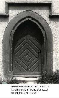 Ober-Mossau, evangelische Kirche / Südpforte (1501)