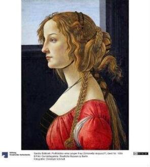Profilbildnis einer jungen Frau (Simonetta?)
