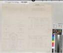 Schwelm (Schwelm) - Kirche der großen ev. Gemeinde - Fugenerweiterung und Brüche - Ansichten - 1846 - 80 rh. Fuß = 22,5 cm - 54 x 57 - Zeichnung - W. A. Thielepape, Baumeister