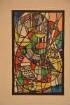 Entwurf für ein Glasfenster für einen Farbenkaufmann in Marburg