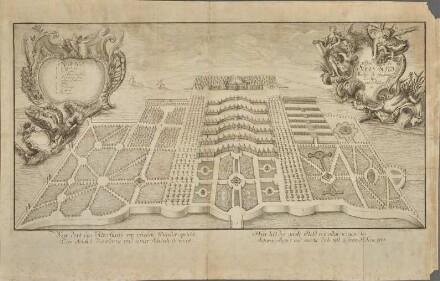 Schloss Sanssouci von Süden aus der Vogelschau