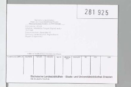 Sächsische Landesbibliothek. Regalaufbau im Magazin (Erdgeschoß)