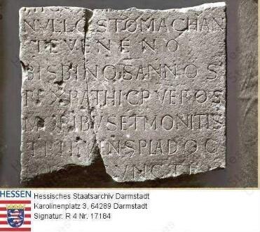 Lorsch an der Bergstraße, Benediktinerabtei / Klosterkirche: Inschrift