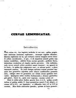 De curvis leminiscatis