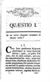 Controversae quaestiones physiologicae, quae vires cordis et motum sanguinis per vasa animalia concernunt
