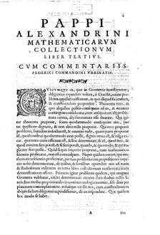 ˜Pappi Alexandriniœ Mathematiae collectiones