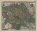 Stadtplan von Paris, ca. 1:10 000, Kupferstich, 1720