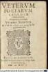 Veterum Poetarum Carmina Selecta. Obscenitate praetermissa. 2, Qvorvm Nomina Seqvens pagella indicabit