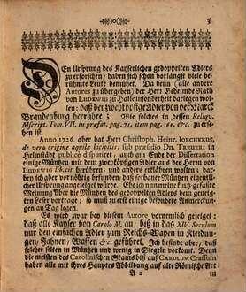 Kurtz verfaste Gedancken über einige alte Müntzen mit dem zwey-köpfigen Adler und desselben Ursprung, welche nebst besonderen Anmerckungen an Tag gegeben