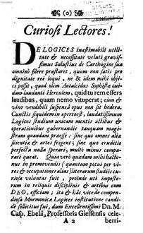 Logica Memorativa Perripatetica : Accedit Dissertatio de variis discendi methodis memoriae causa inventis earumque usu et abusu