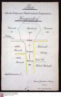 Lageplan zur Anlage eines Schiessstandes des Kriegervereins zu Hergersdorf