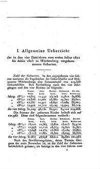 Beiträge zur geburtshülfflichen Topographie von Würtemberg