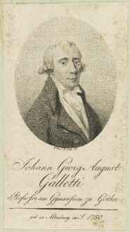 Bildnis des Johann Georg August Galletti