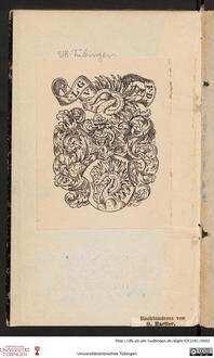 Spiegel [Exlibris Wappen des Ludwig Gremp von Freudenstein]