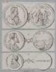 Drei Münzbildnisse des Galilevs Galilei
