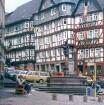 Marburg. Marktplatz mit Marktbrunnen
