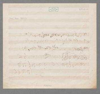 Skizze - BSB Mus.ms. 8203