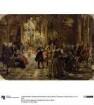 Flötenkonzert Friedrichs des Großen in Sanssouci. Skizze