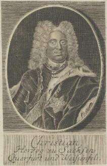 Bildnis des Christian, Herzog von Sachsen-Weißenfels
