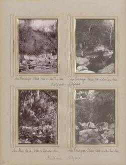 links oben: am Garanga-Fluss, 900 m über dem Meer am Kilima-Ndjaro rechts oben: am Garanga-Fluss, 1200 m über dem Meer am Kilima-Ndjaro links unten: am Garanga-Fluss, 900 m über dem Meer am Kilima-Ndjaro rechts unten: am Muë-Bach, 2800 m über dem Meer am Kilima-Ndjaro