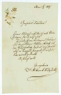 Brief von Ignaz Franz Ritter von Castelli