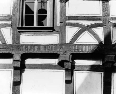 Obergasse 11, Hausinschrift