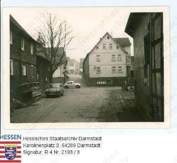Brandau im Odenwald, Blick in die Lützelbacher Straße / 4 Aufnahmen