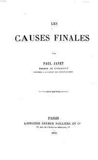 ˜Lesœ causes finales
