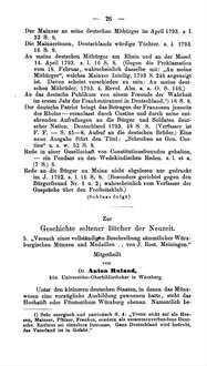 """Zur Geschichte seltener Bücher der Neuzeit. 5. """"Versuch einer vollständigen Beschreibung sämmtlicher Würzburgischen Münzen und Medaillen . . . von J. Rost. Meiningen"""""""
