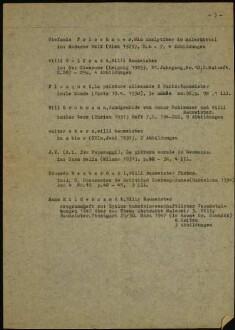 Bibliografie in Vorbereitung zur Baumeister-Monografie