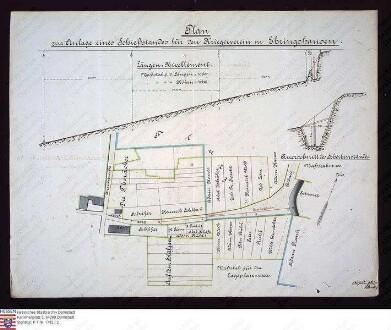Lageplan, Querschnitt und Längenprofil zur Anlage eines Schiessstandes zu Ehringshausen