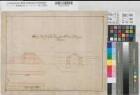 Meppen (Meppen) - Festung - Torgewölbe - Grundriß, Schnitt - Ende 17.Jh. - 50 Fuß = 16,1 cm - 28 x 57 - kol. Zeichnung - KSM Nr. 1002