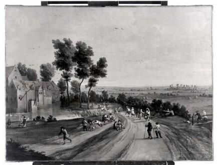 Lodewijk de Vadder, Landschaft mit tanzenden und rastenden Bauern, Kunstpalast, Düsseldorf, Inv.-Nr. M 19