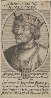 Bildnis von Ludovicus X., König von Frankreich