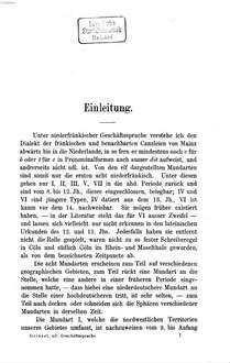 Geschichte der niederfränkischen Geschäftssprache