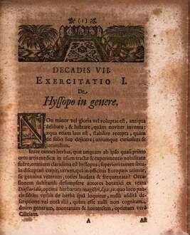 Exercitationes medico-philologicae sacrae et profanae. 7