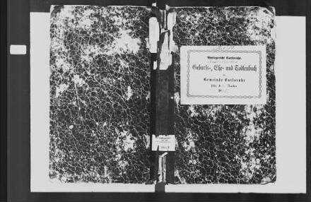 Karlsruhe, katholische Gemeinde: Standesbuch 1845