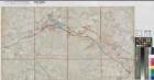 Lippe-Seitenkanal - Lippramsdorf/Oelde bis Datteln - Entwurf für Linie 1 und 5 - Anf. 20.Jh. - 1 : 25 000 - 46 x 83 - Einzeichnung in Meßtischblatt - aus: Kreis Coesfeld - KSM Nr. 1222