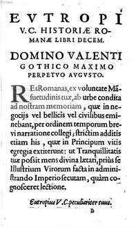 Historia Romanae Breviarium : libr. X.